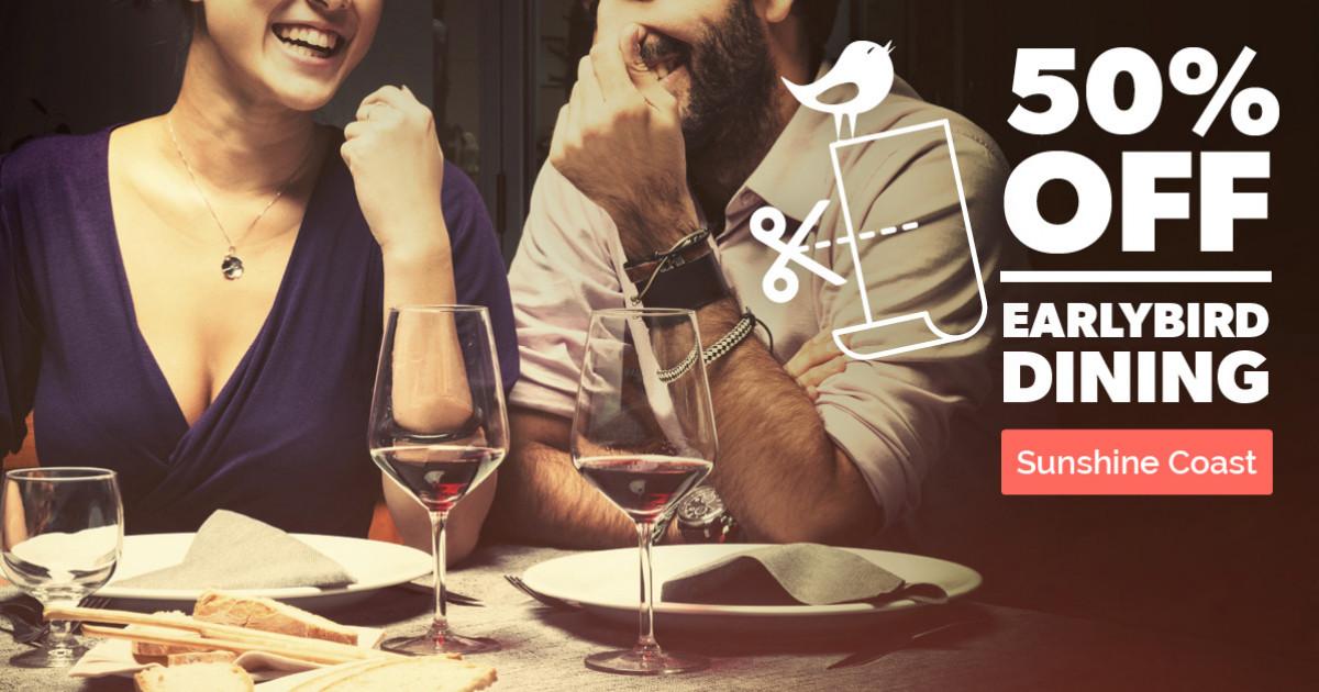 Sunshine Coast Restaurants: 50% off Dinner Deals with First