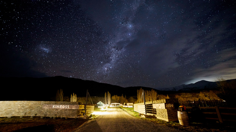 Entrance Stars Night Winter