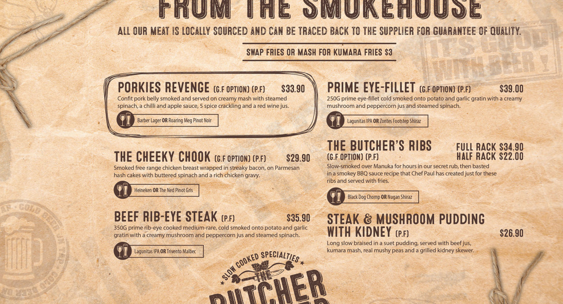 The Butcher and Brewer: 50% off the first table of the night
