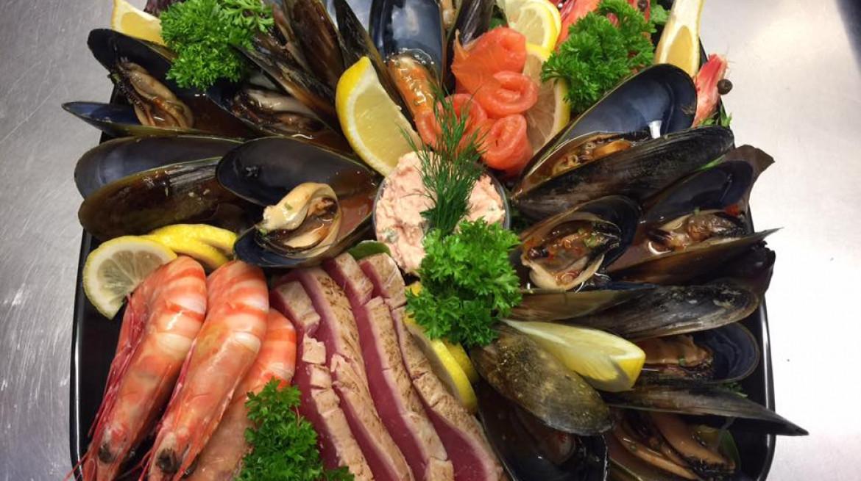 poseidon seafood plate