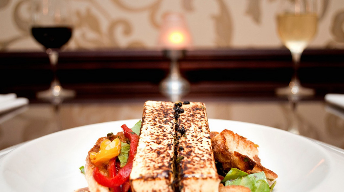 Grilled haloumi cheese