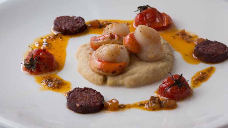 brasserie 74 scallop chorizo