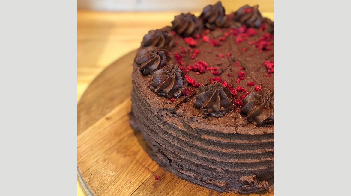 Doucble Chocolate Choc Cake
