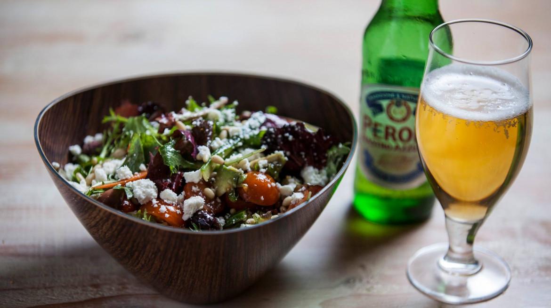 ironbark salad and beer