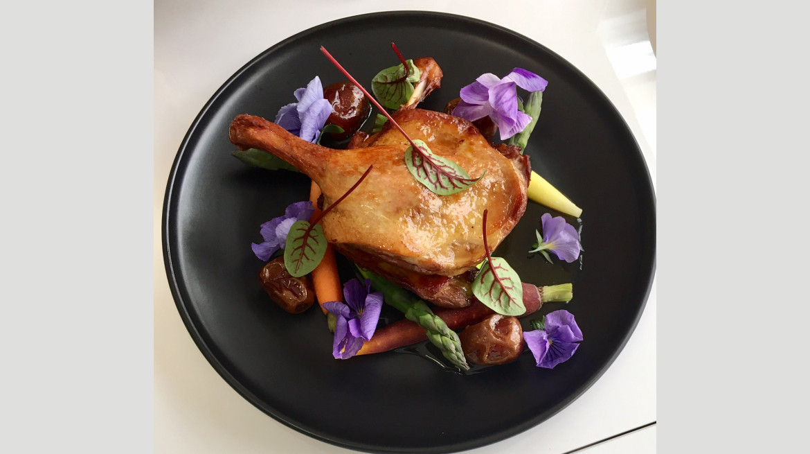 Confit duck maryland