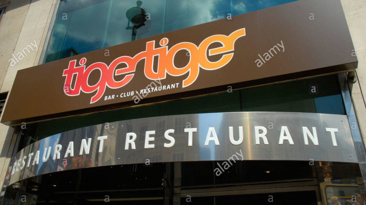 exterior of tiger tiger bar restaurant in the haymarket london england AD98FH