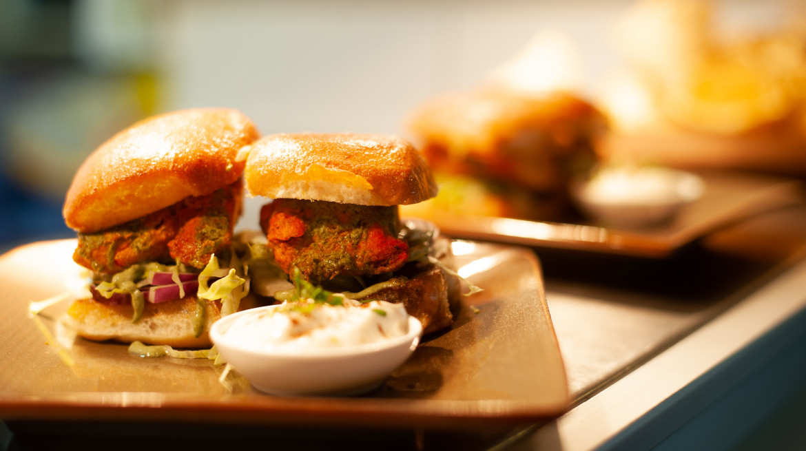 Indian Chicken tikka slider