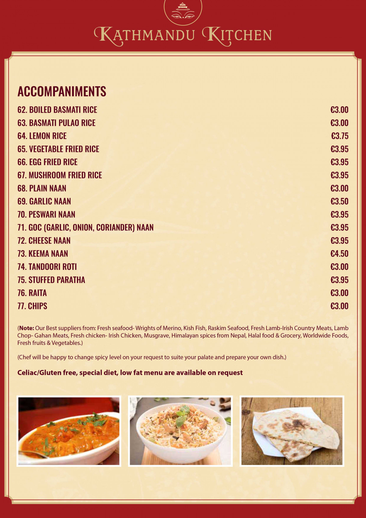 Kathmandu Kitchen: 50% off the first table of the night with