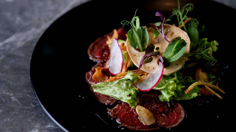 Beef fillet tataki