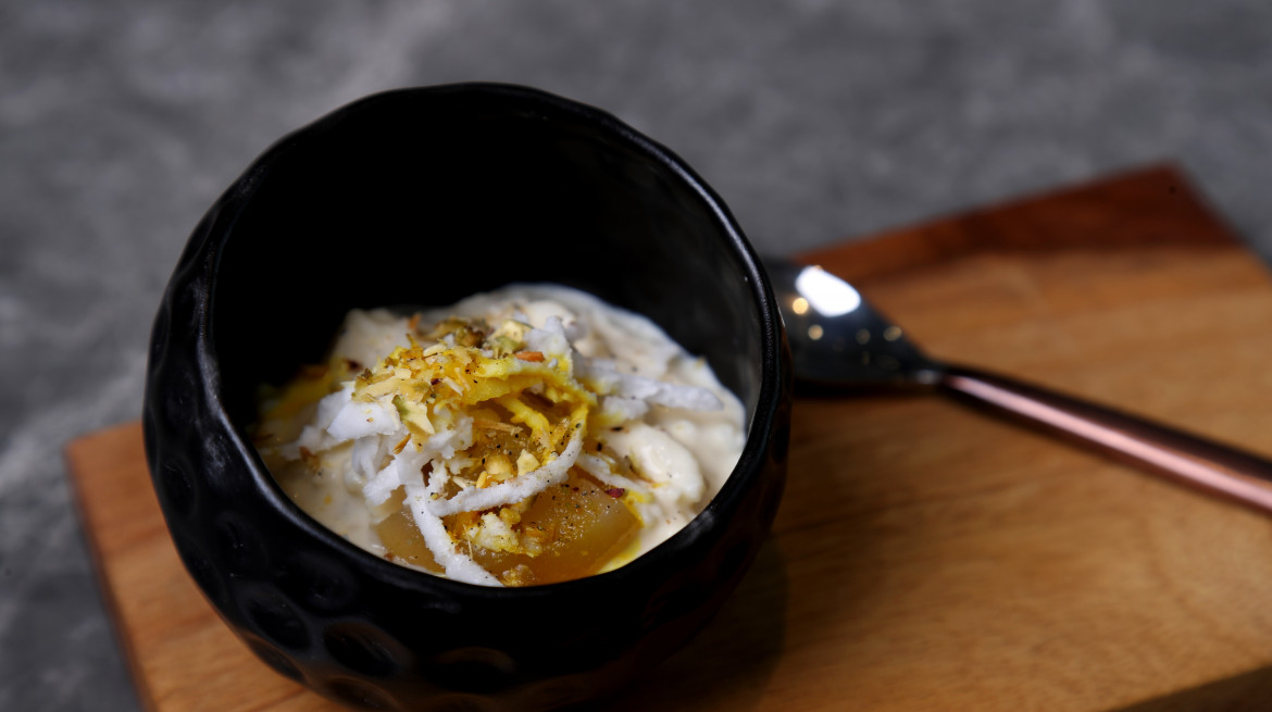 Mild spiced coconut rice pudding 2