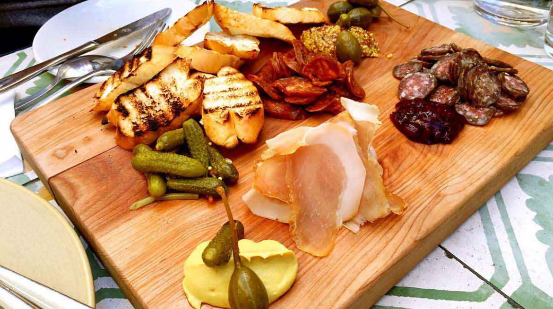 glass goose meat board