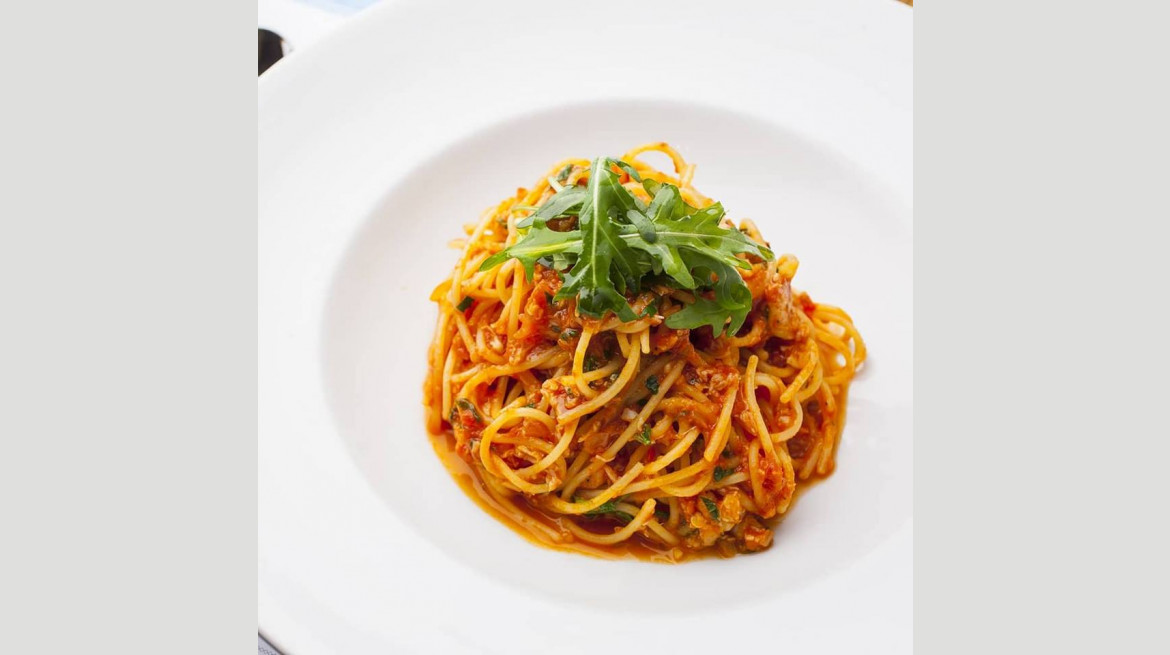 NOLITA SPAGHETTINI - Shark Bay crabmeat, tomato sugo, fennel, garlic, chilli, parsley