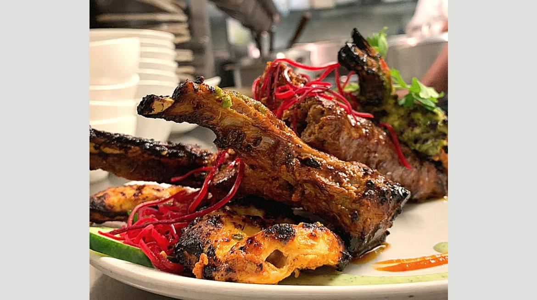Awadhi lamb chops   Chicken tikka   Hara prawn v2. Silka
