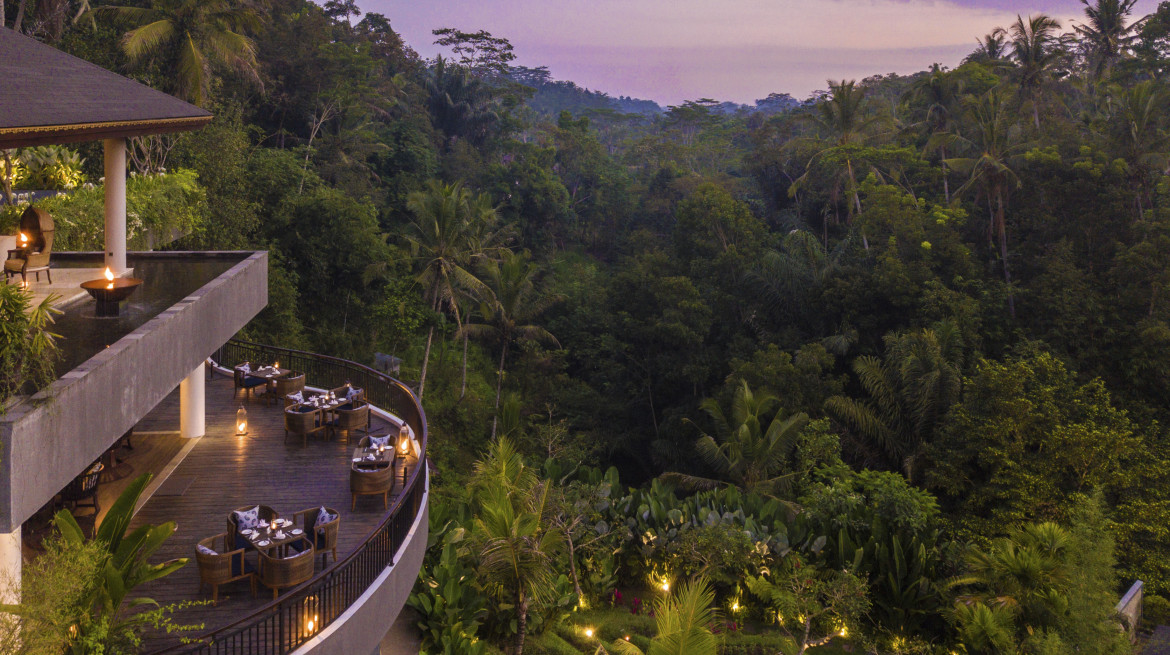 samsara ubud the kelusa aerial bird eye view