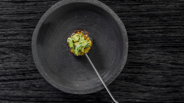 sate pulung bebek nanas madu salted chili cucumber