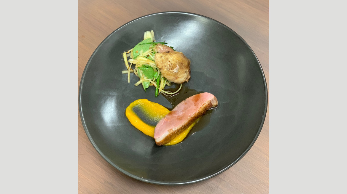 Duck pumpkin papaya Ayala dinner May 2019