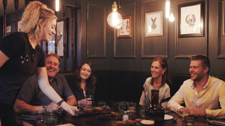 Muskets Moonshine Bar restaurant service