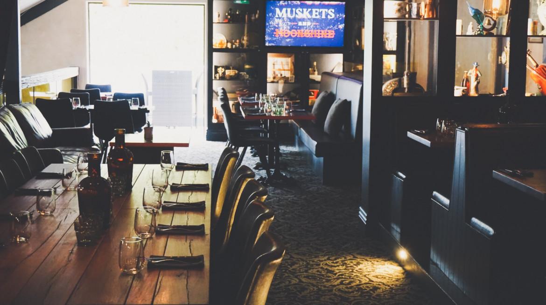 Muskets Mezzanine Dining Room