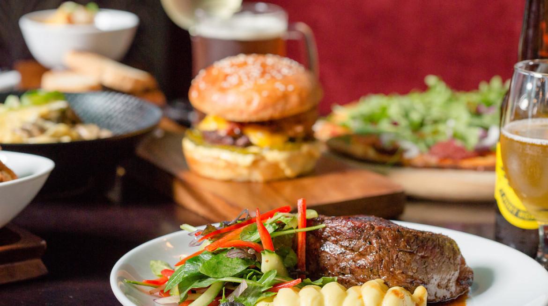 steak burger green