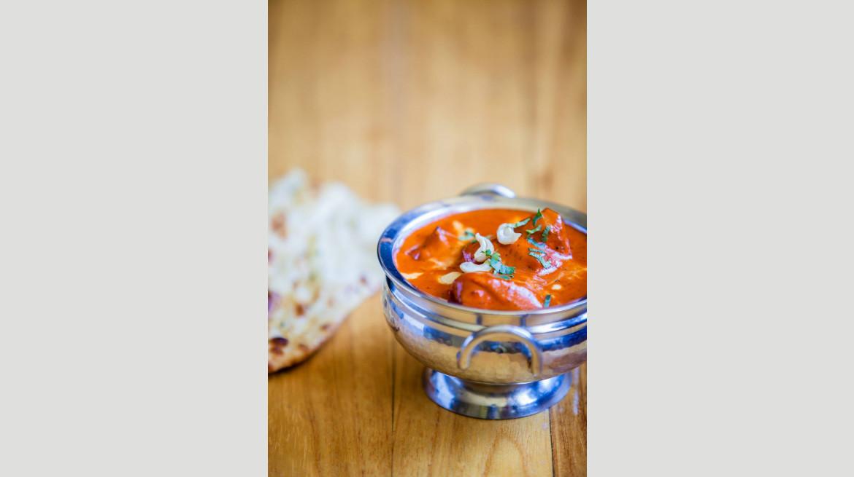 indigo curry serving plates