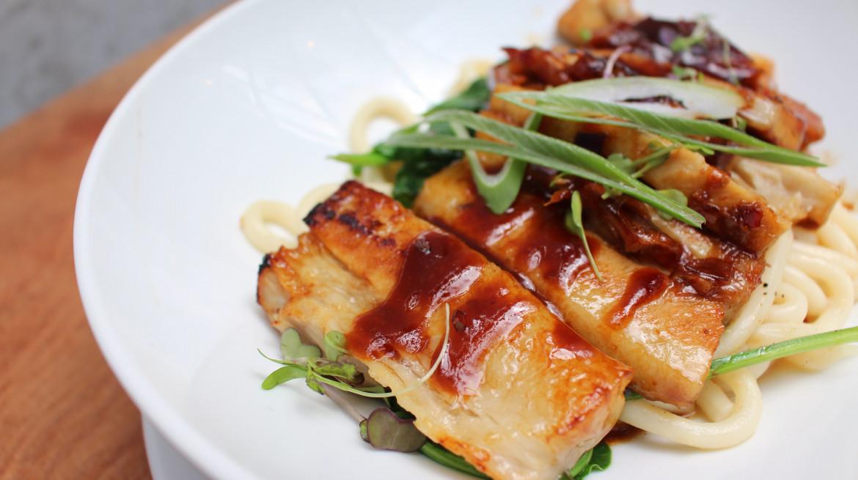 Pork belly udon