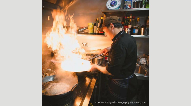 artwok flaming chef
