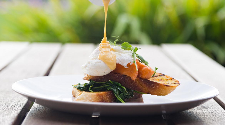 Spectators Breakfast Eggs Benedict with Smoked Salmon 1