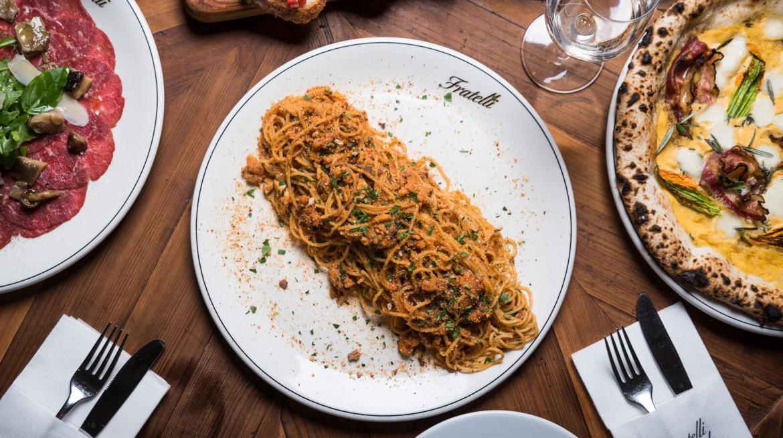 Crab spaghetti