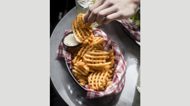 Holey Moley Waffle Fries